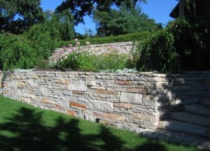 Large Limestone Wall