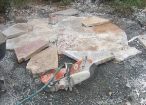 Flagstone Cut In