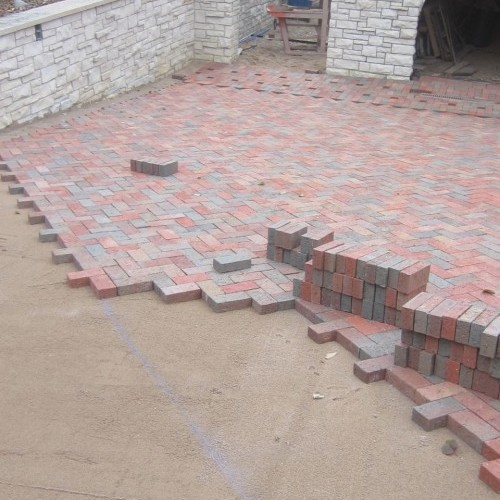 Laying Clay Pavers