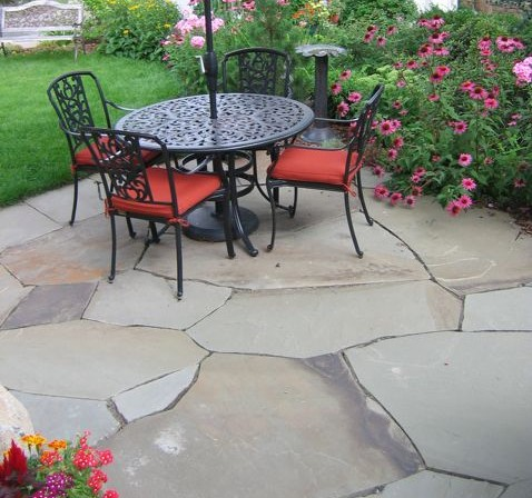 New York Blue Flagstone Patio