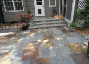 Stone Patio and Step