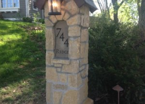 Ridge Street Address Stone and Light